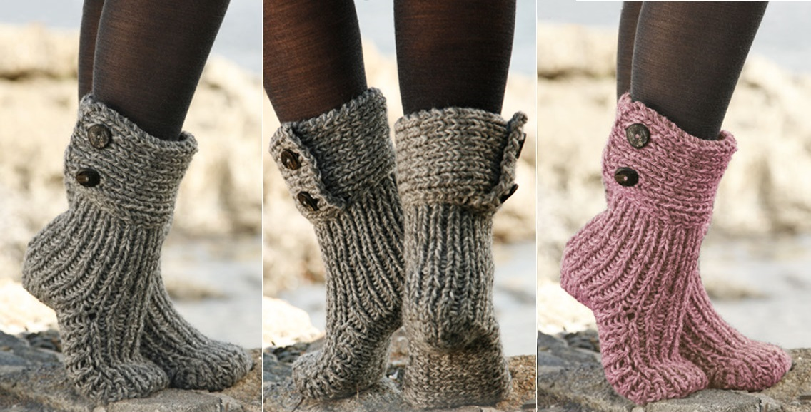 Knit Moon Socks