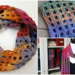 Crochet Windowpane Scarf