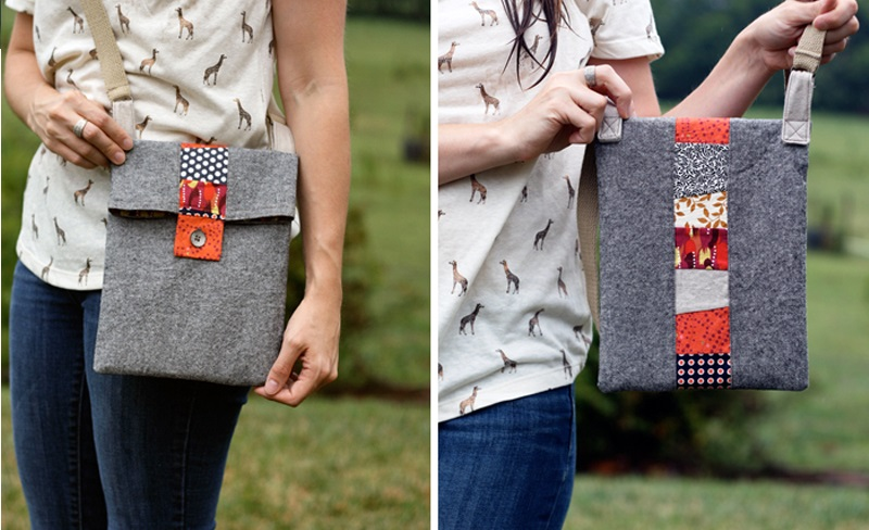 Scrappy Stripe Tablet Bag