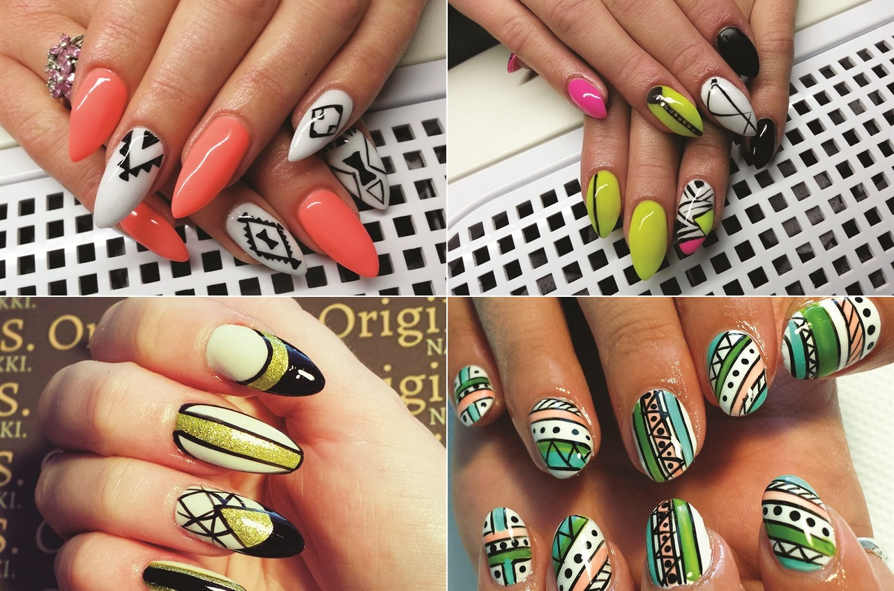 Tribal Nail Art Designs 30+ Photo