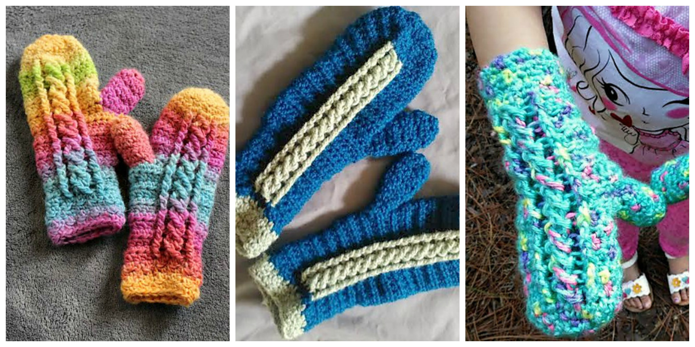 Crochet Chilly Cable Mittens