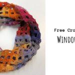 Crochet Windowpane Scarf
