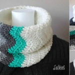 Winter Waves Chevron Cawl