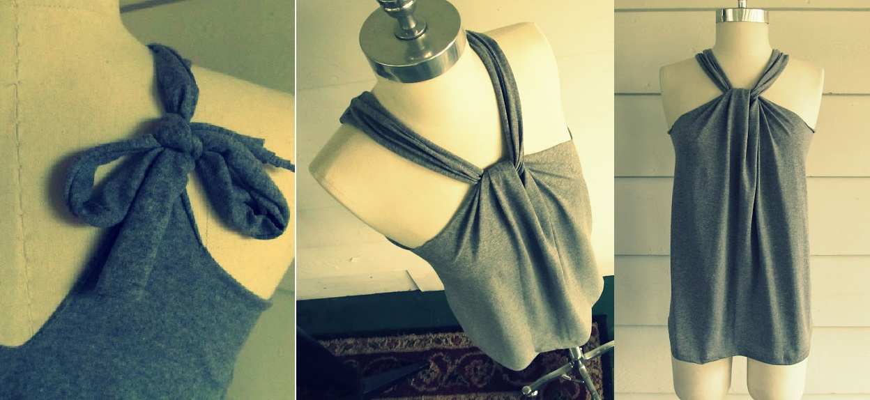 Tee Shirt Halter Tutorial
