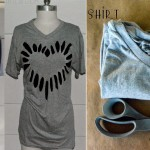 Heart Cut-out Shirt Tutorial