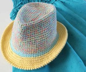 Crochet Fedora Hat (Video+Pattern)