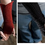 Gauntlet Style Fingerless Gloves