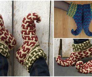 Crochet Elf Slippers