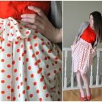 Sew Polka Dot Pocket Skirt