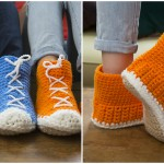 Crochet Hi-Top Slippers