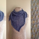 Periwinkle Lace Shawl