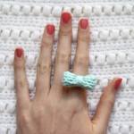 Knit Bow Ring