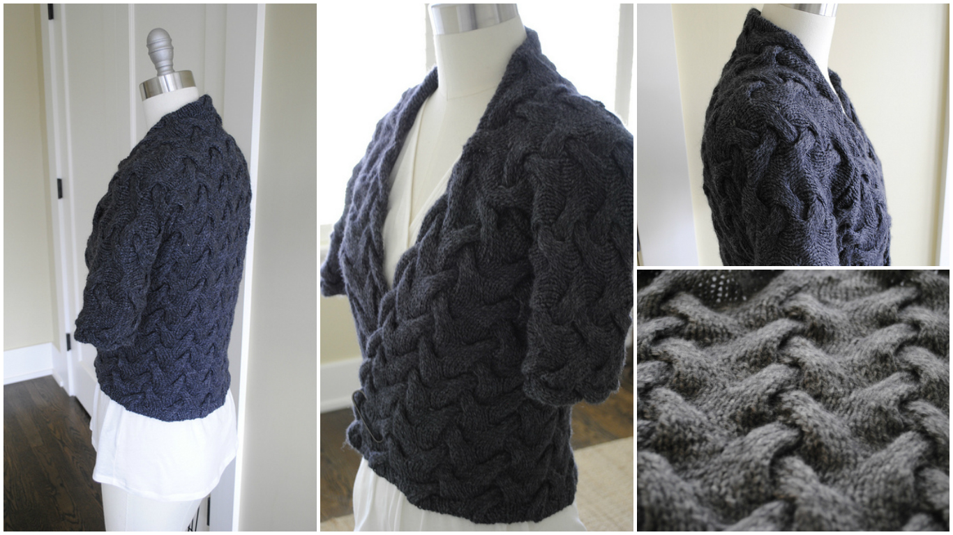 Knit Cable Wrap Cardigan