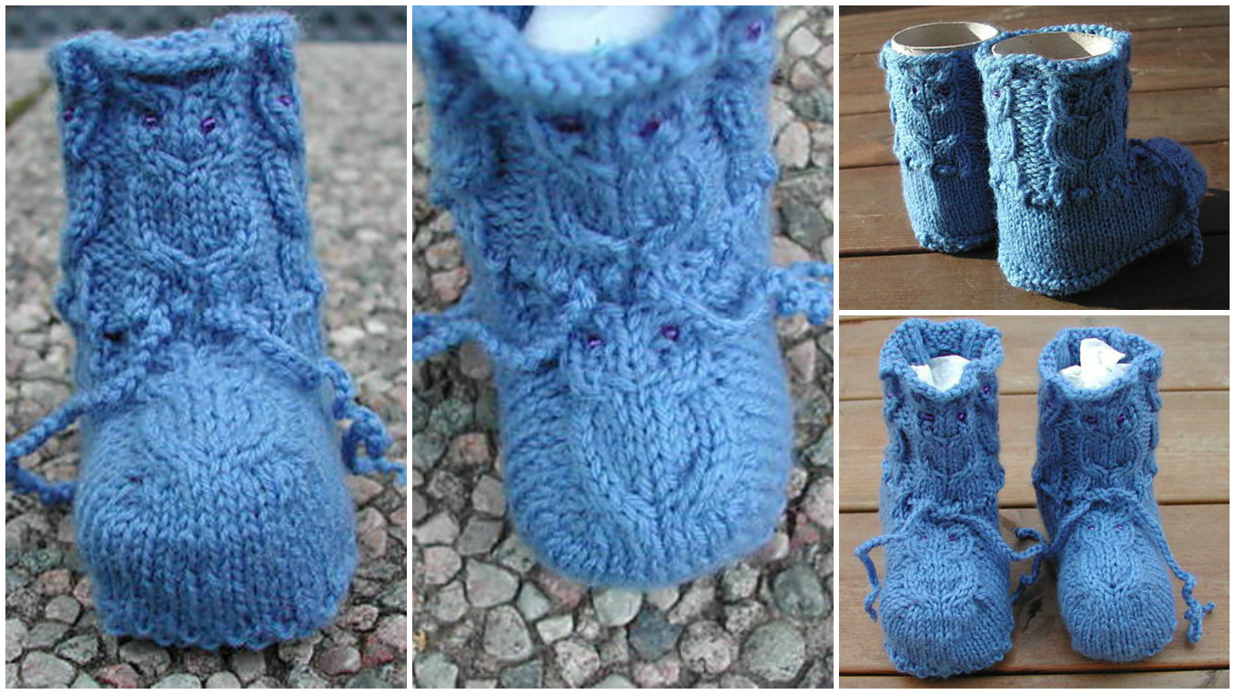Knit Owl Boots