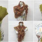 Knit Keyhole Shawl