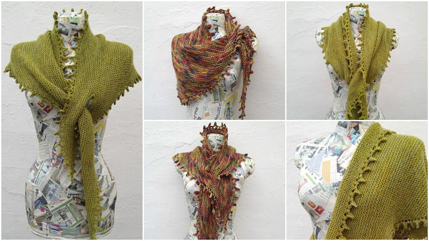 Knit Keyhole Shawl - Pretty Ideas