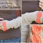 Crochet Bow Arm Warmers