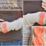 Crochet Bow Arm Warmers