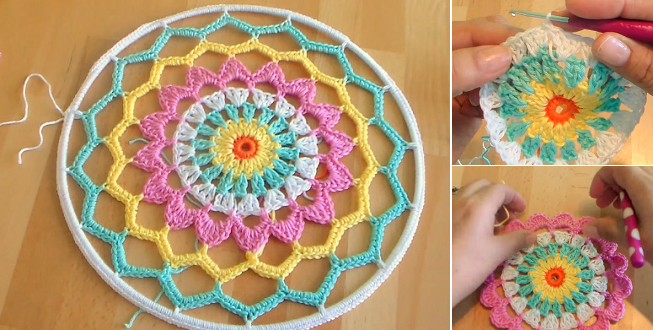 Crocheting Dream Catchers : Follow The Link For Dreamcatcher?s Video Tutorial: