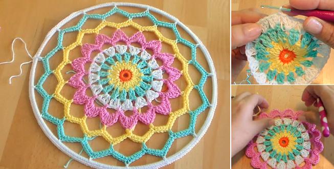 Crochet Patterns Dreamcatchers : Crochet Dreamcatcher - PRETTY IDEAS