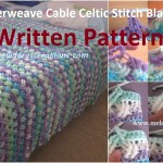 Celtic Cable Stitch Blanket's Written Pattern