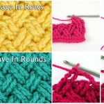 How To Crochet Celtic Stitch In Rows And In Rounds