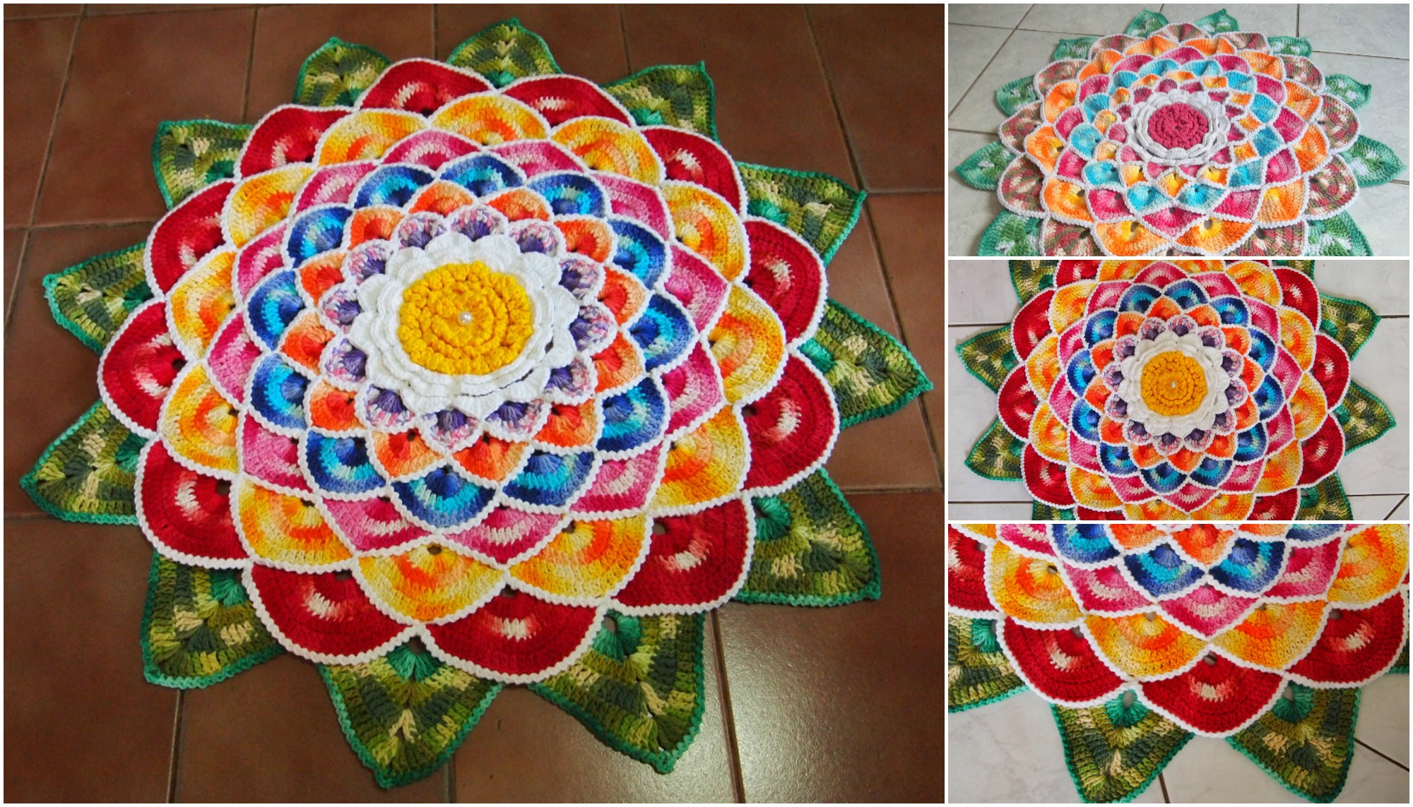 How To Crochet Round Rug Mandala