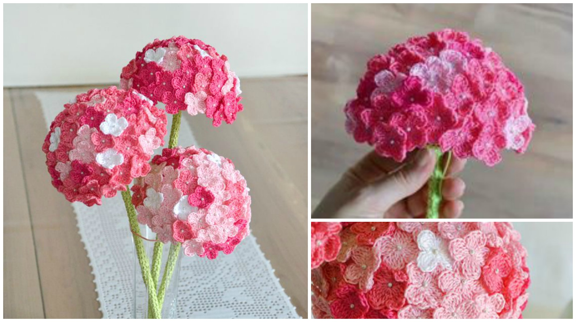 Crochet Hydrangea Flower Pretty Ideas