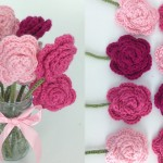 Crochet Rose Bouquet