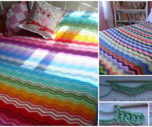 Neat Ripple Blanket – Free Pattern