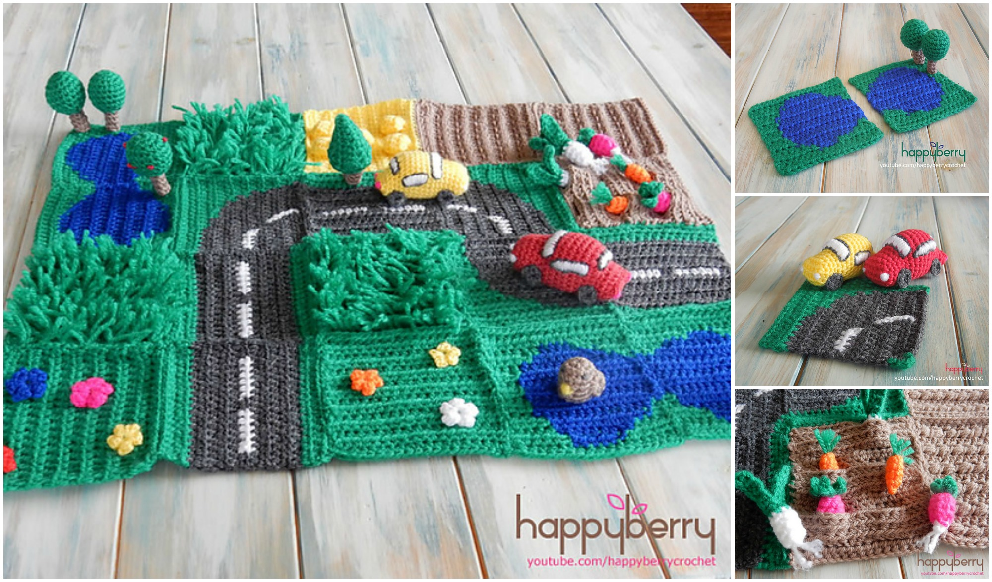 Crochet Road Play Mat