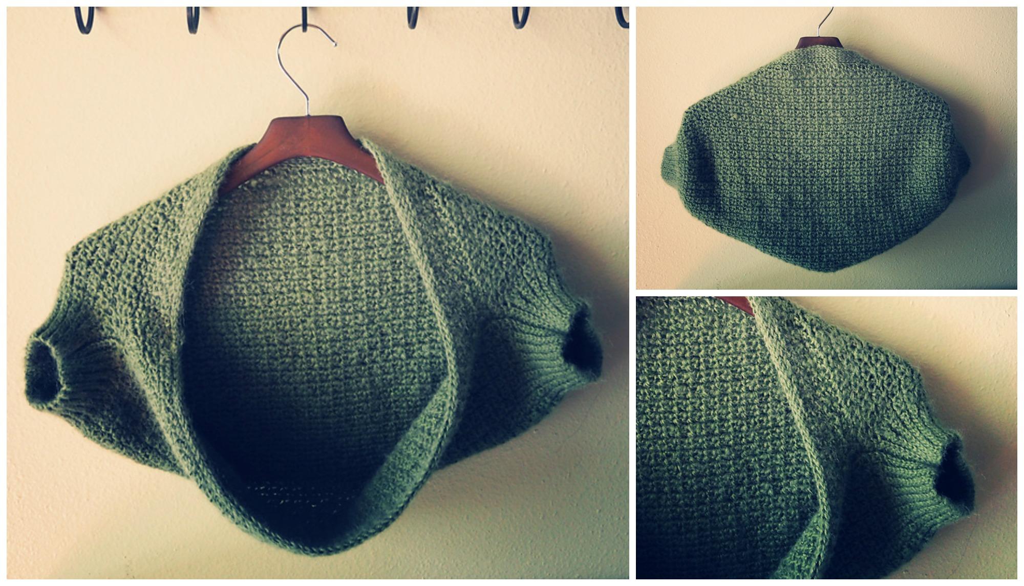 Crochet Moss Shrug (Hook – 6.0/6.5)