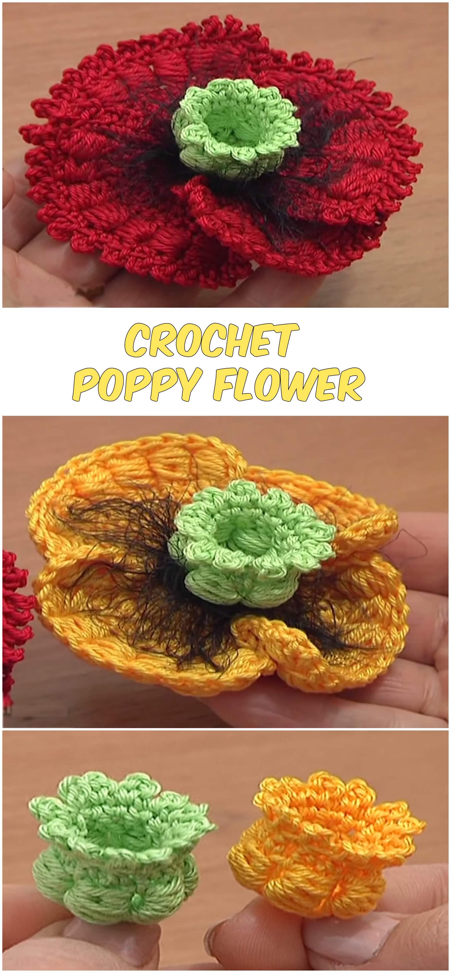 Crochet Poppy Flower Pretty Ideas