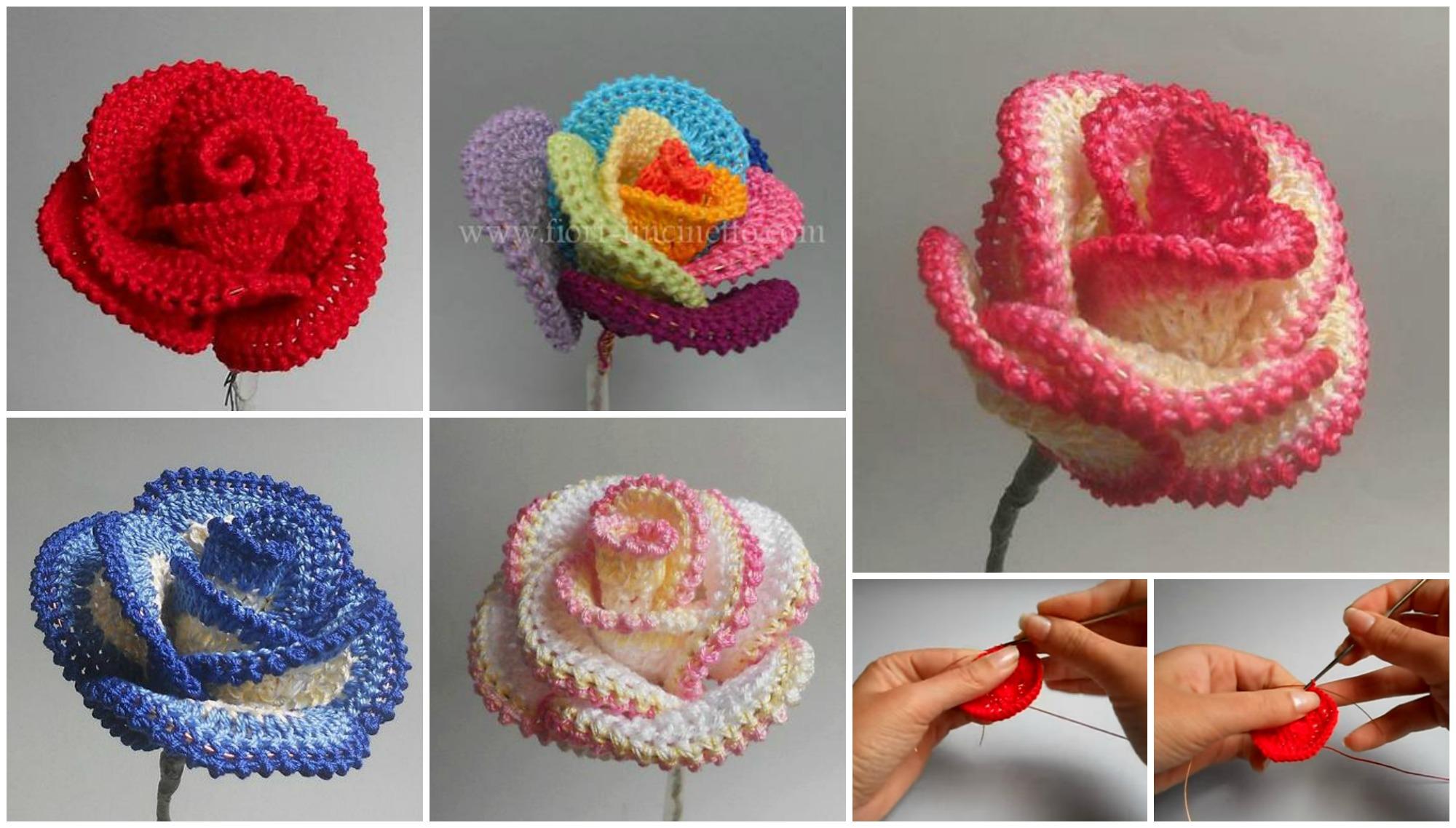 Crochet Beautiful Roses Pretty Ideas