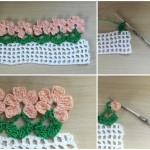 Crochet Flower Border