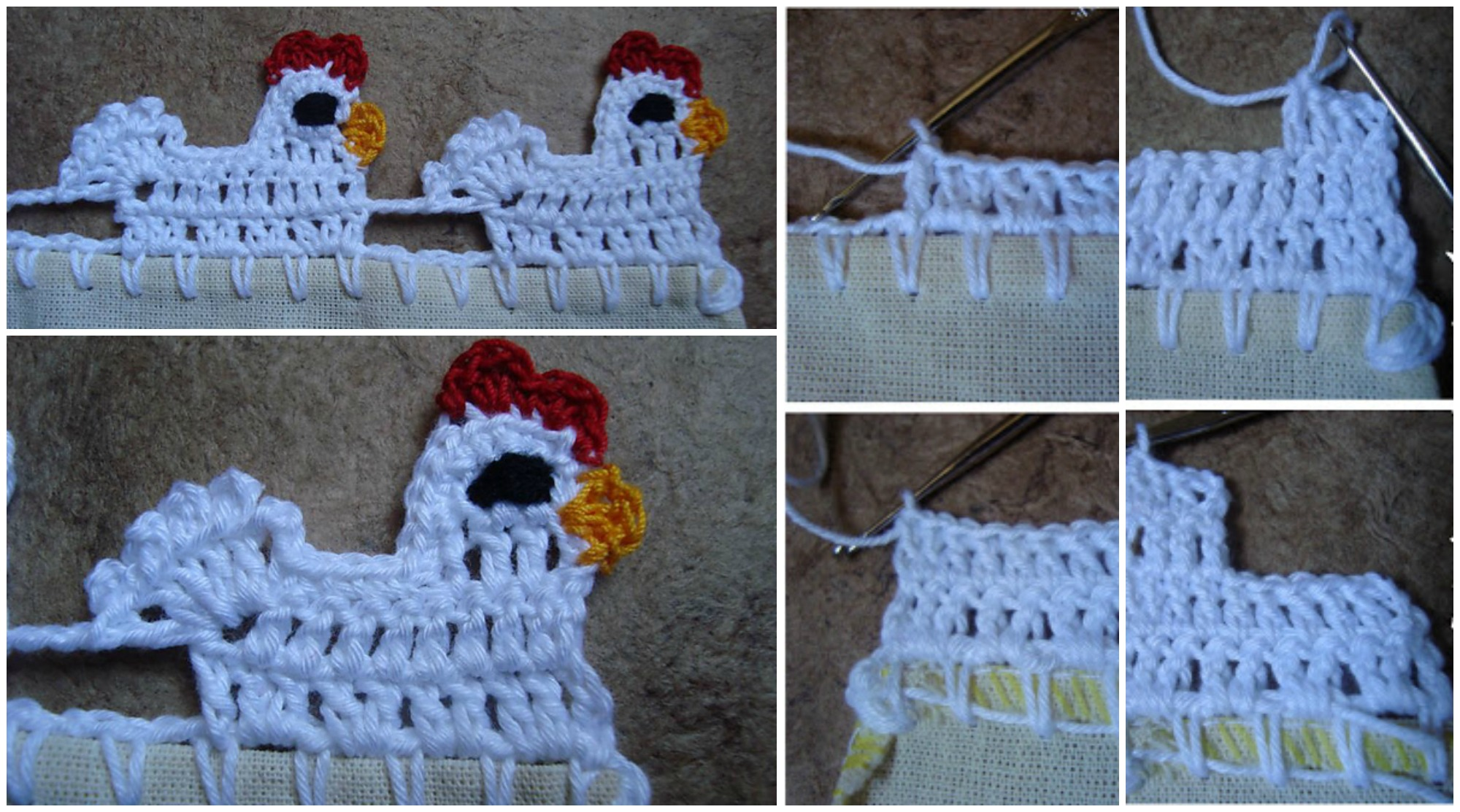 Crochet Little Hen Border