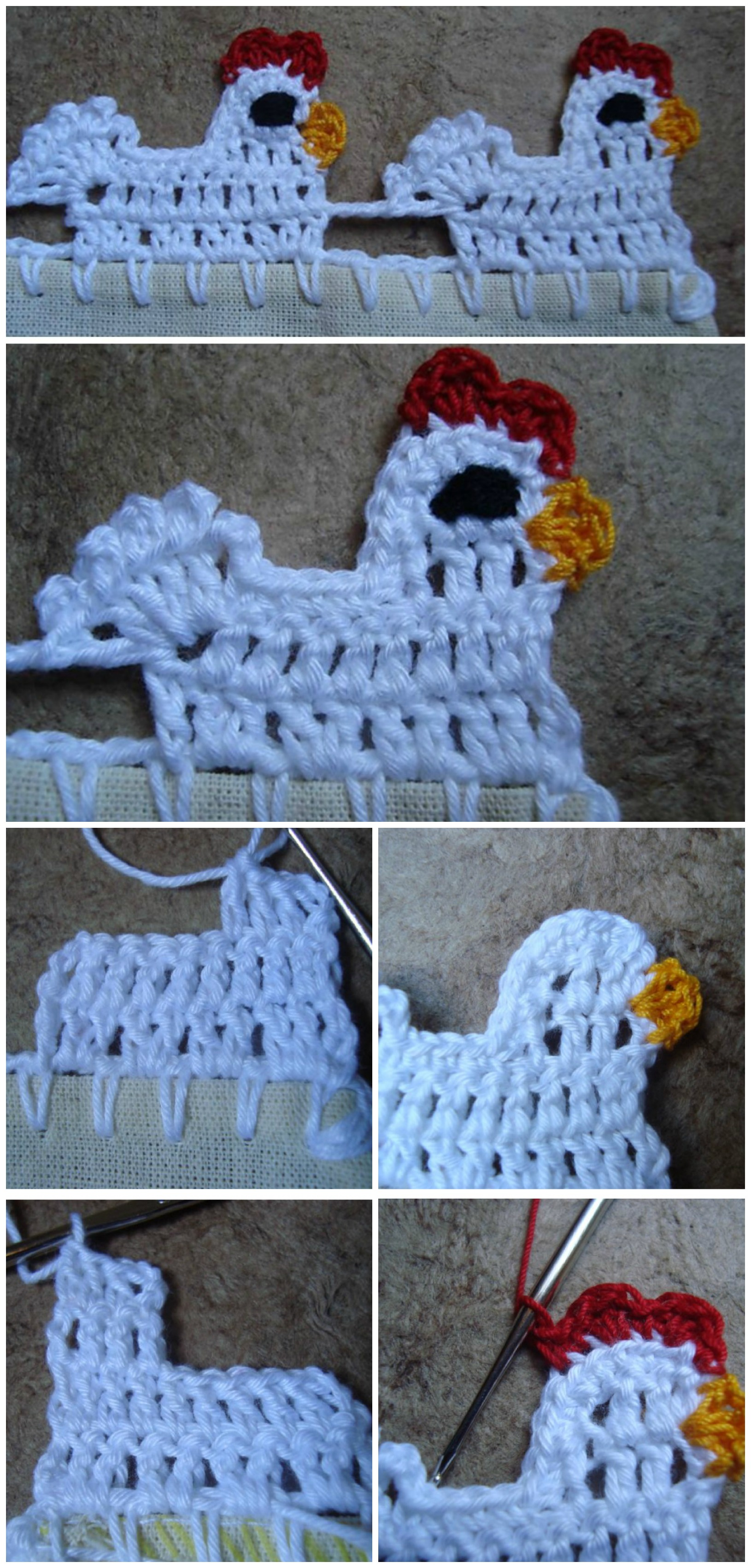 Crochet Elephant Edging - Free Tutorial | Crochet elephant ... | 3400x1630