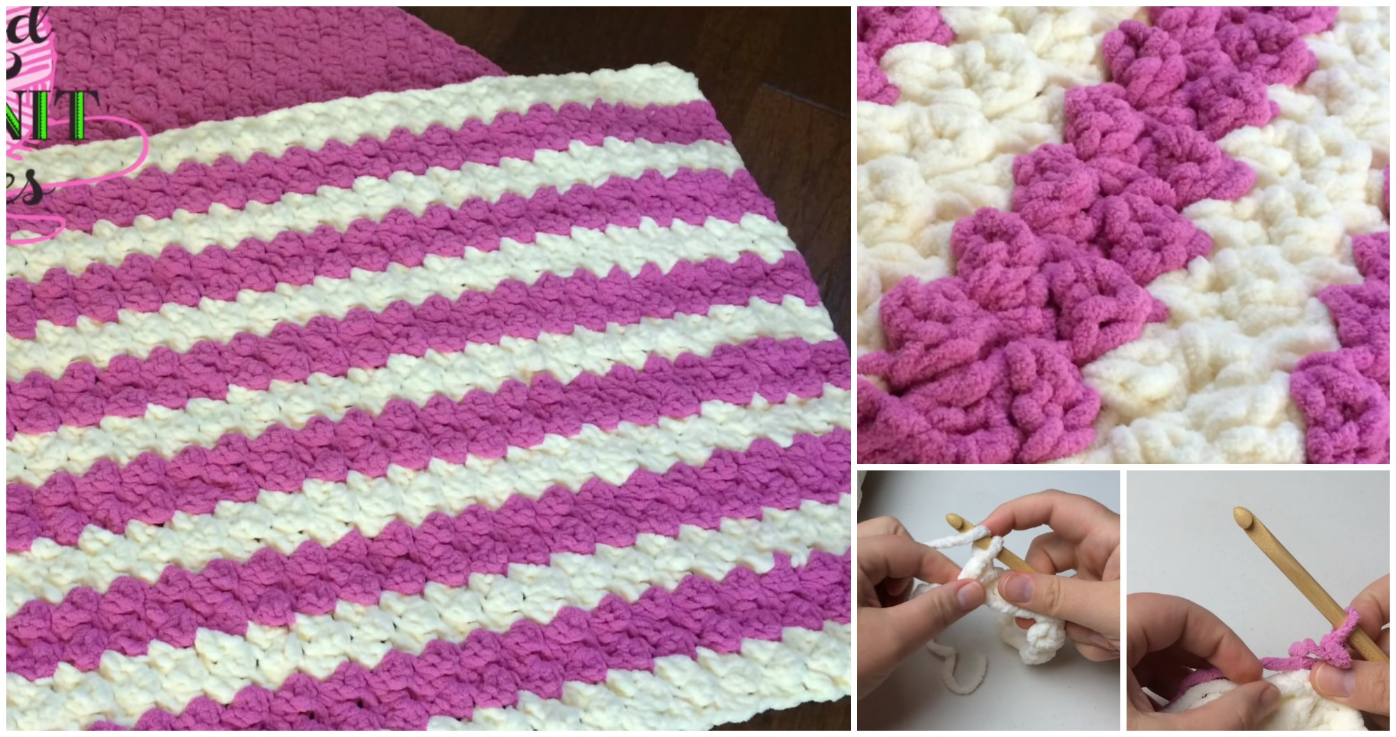 Crochet Marshmallow Baby Blanket – Video Tutorial