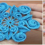 Crochet Flower With Swirls