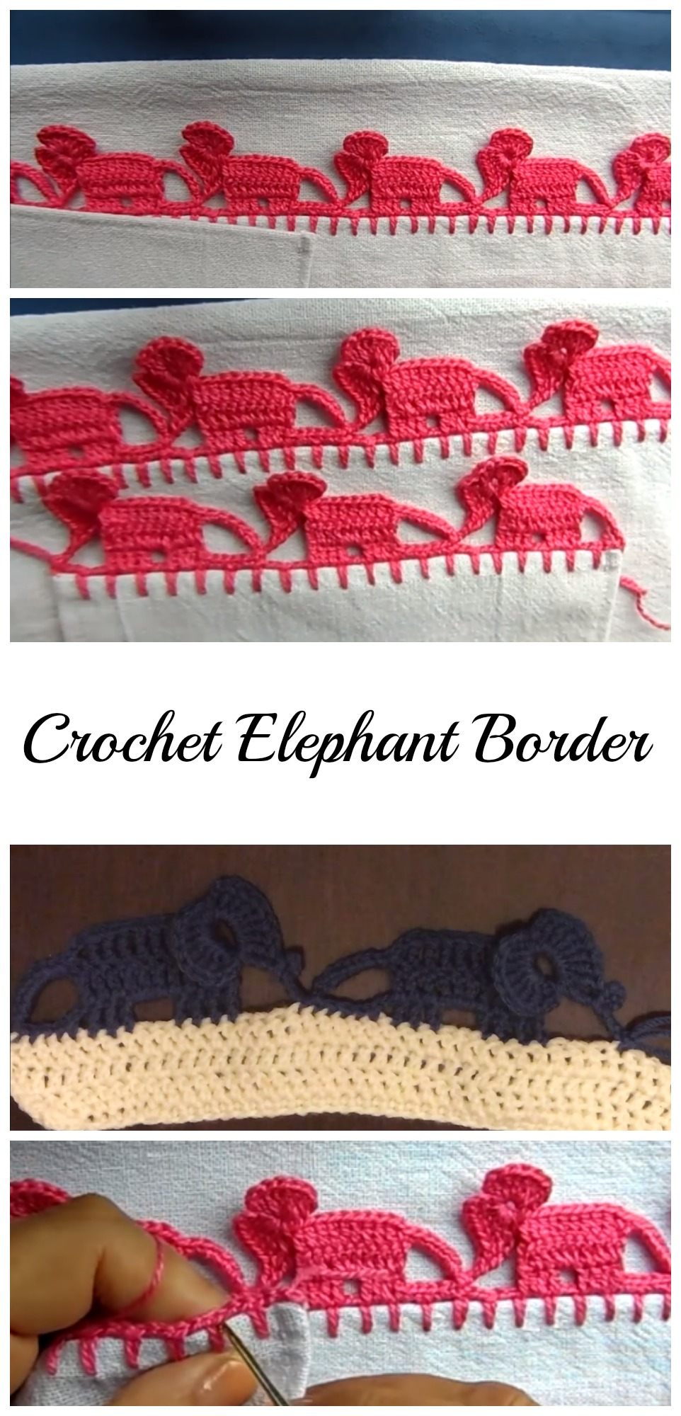 How To Crochet Elephant Edging Pretty Ideas