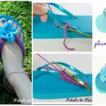 How To Crochet Flip Flops with Flower