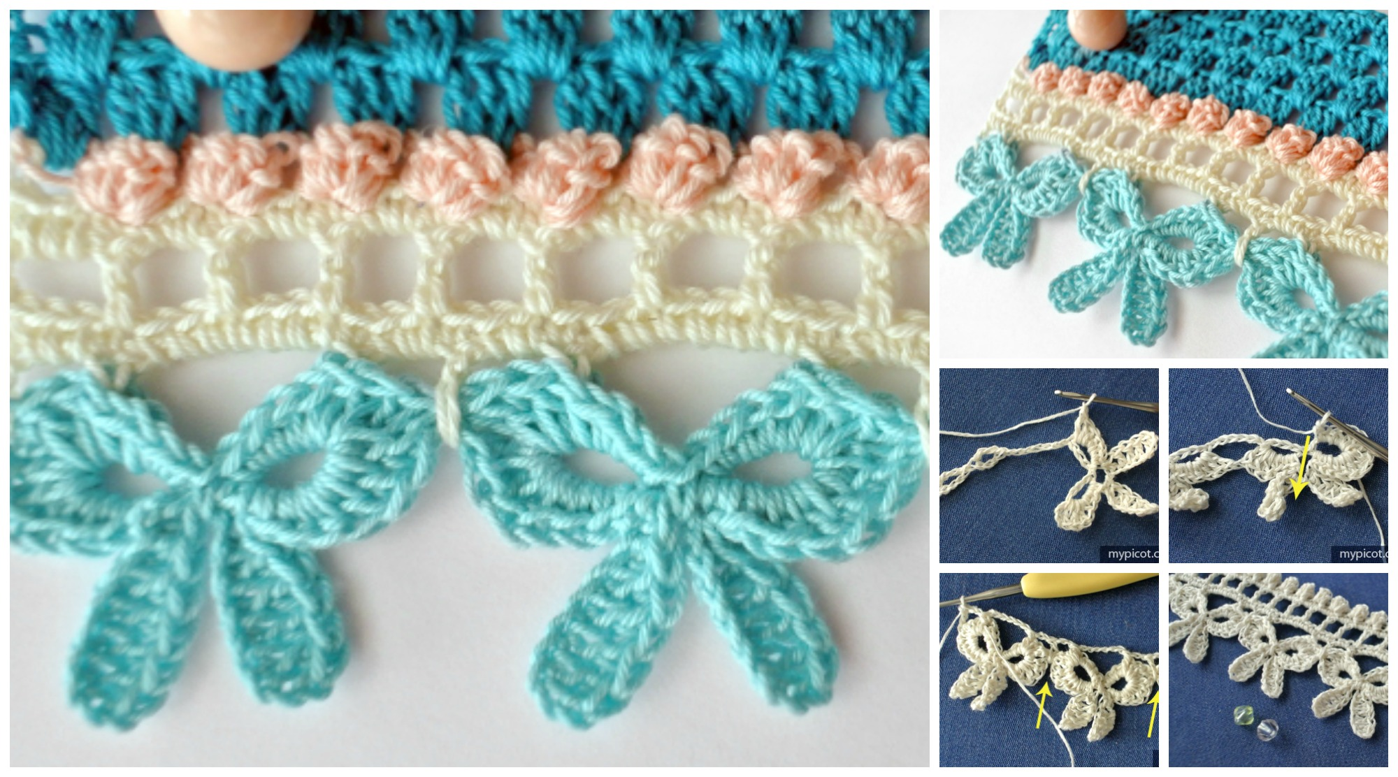 How To Crochet Bow Edging