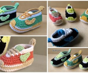 Crochet Baby Nike Shoes – Video Tutorial