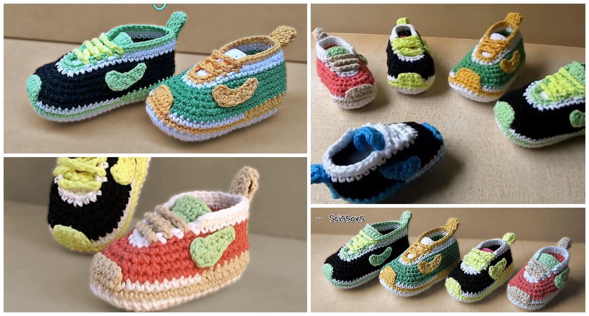 Crochet Baby Nike Shoes