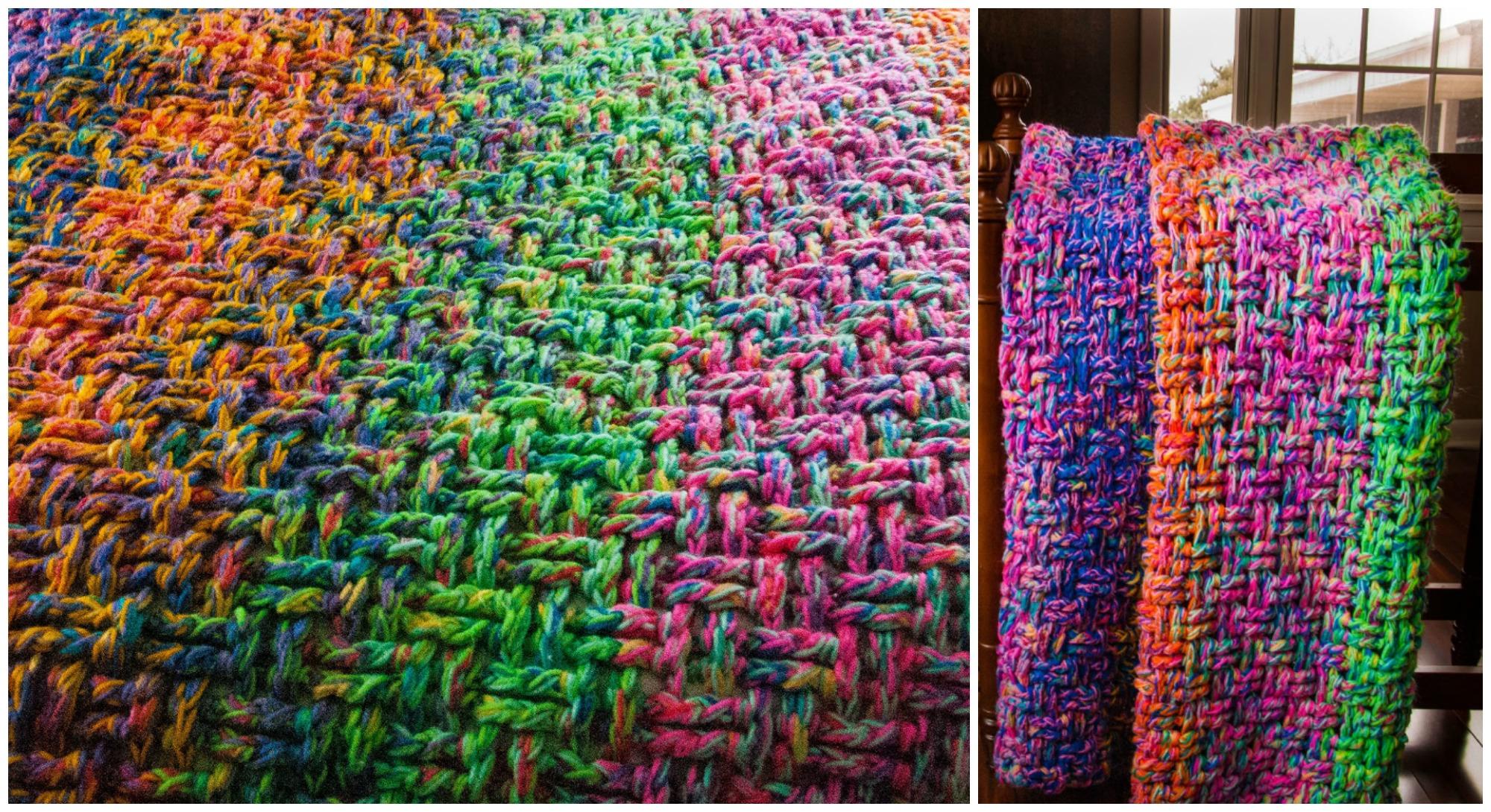 Crochet Basket Weave Stitch Blanket