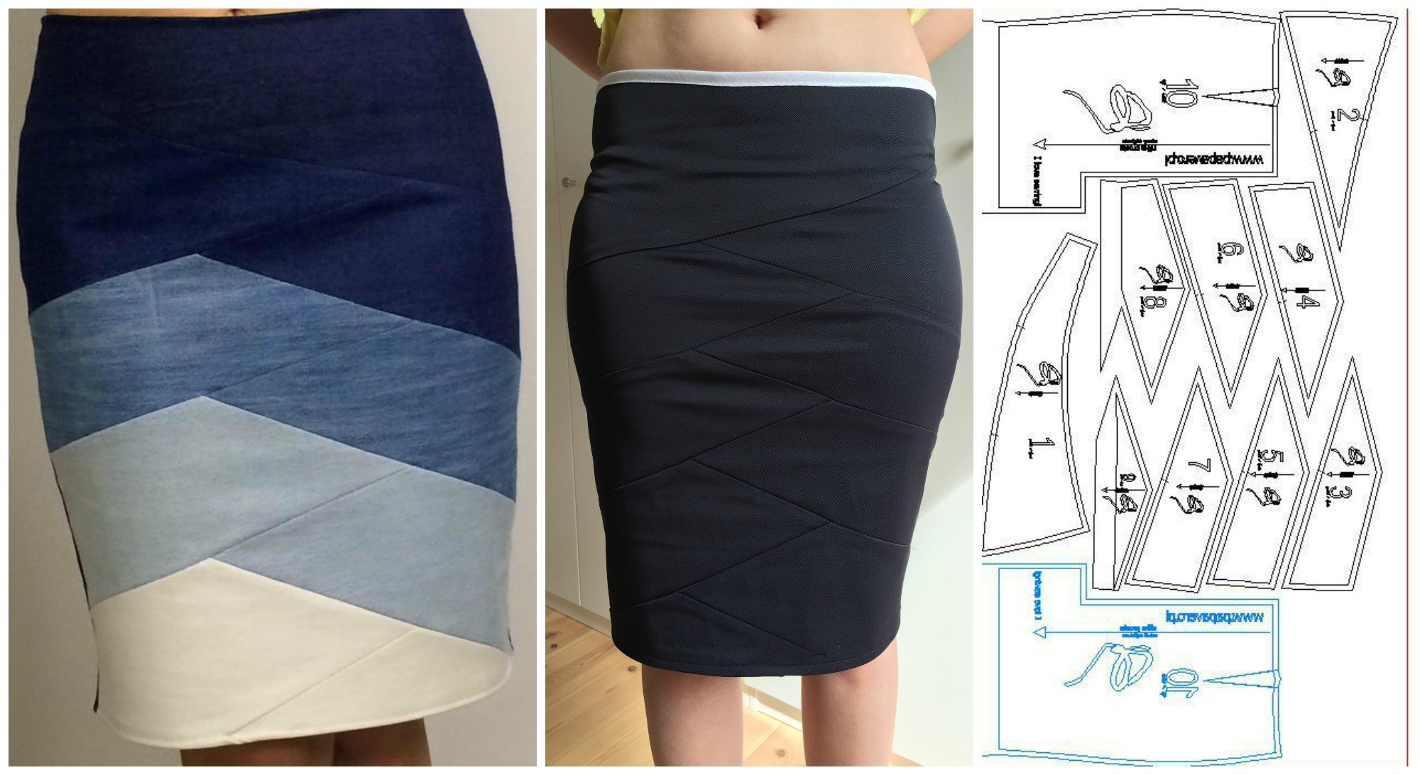 Creative Skirt With Different Pieces