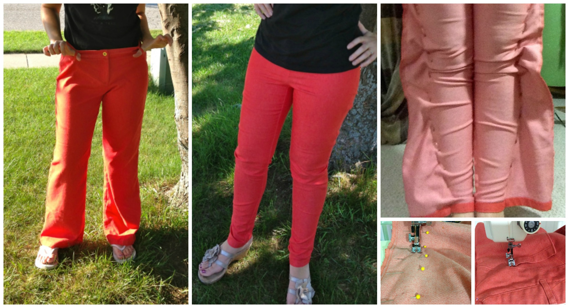 Refashion Baggy Pants Into Skinny – Tutorial
