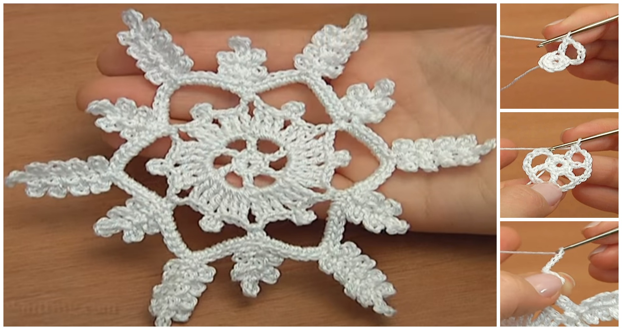 How To Crochet 6-Pointed Showflake