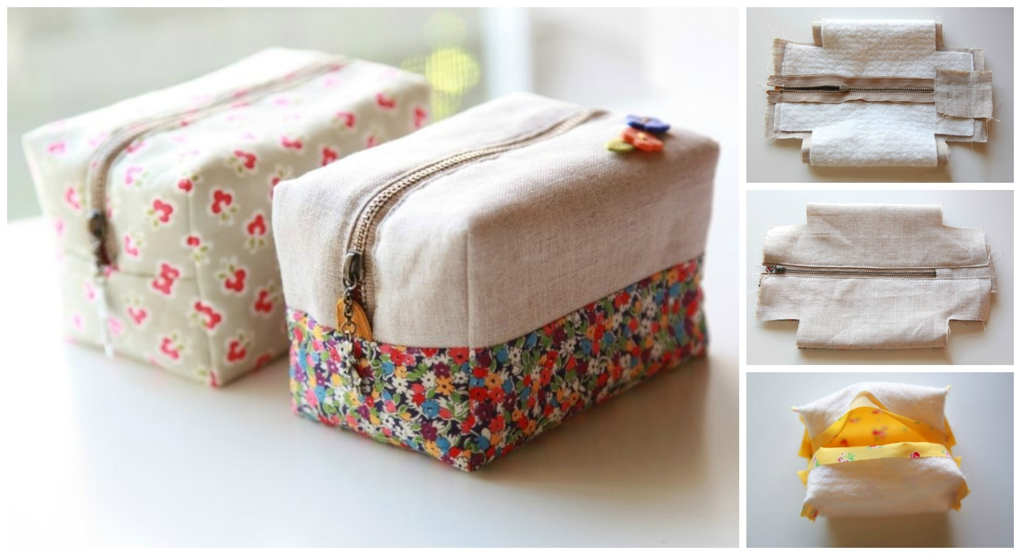 Sew Block Zipper Pouch