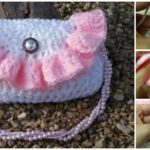 Crochet Ruffle Handbag – VIDEO TUTORIAL